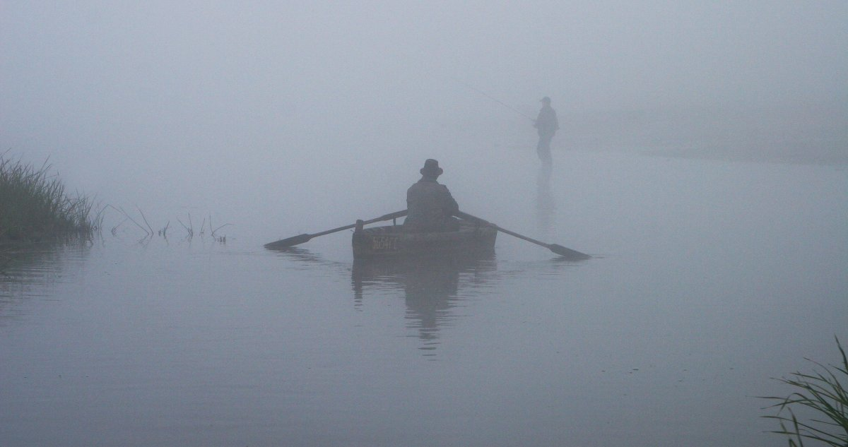 лодка туман фото