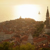 Словения, Пиран, закат над Адриатическим морем :: Наталья Копнина