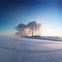 На лыжах к ТЭЦ-4 :: Артур Белоножко