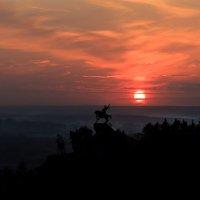 Уфа. Закат над памятником Салавату Юлаеву :: Павел Меньшиков