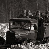 1943. Едут добровольцы :: Виктор Перякин