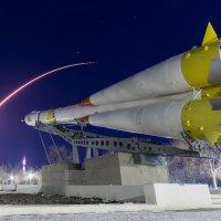 След запуска ракеты-носителя Союз :: Zergotron