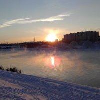 Зимняя Москва река на закате :: Людмила В.