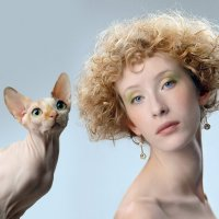 Анна и кошка :: Анна Сержант