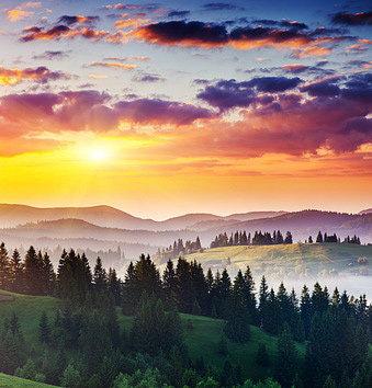 Великолепие рассветов и закатов