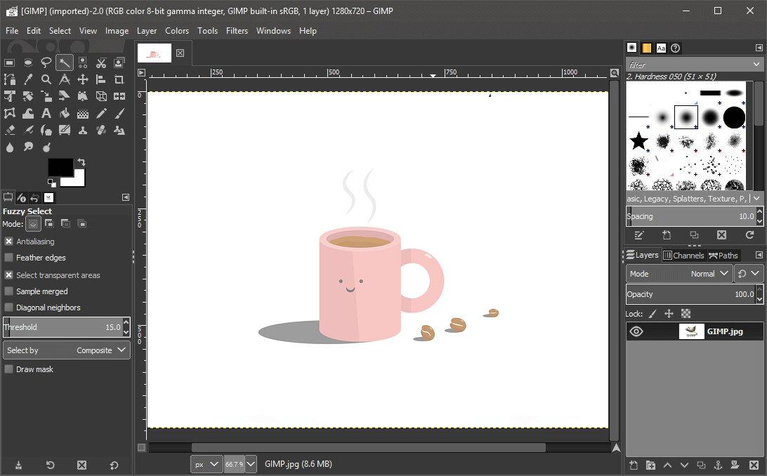 В GIMP можно не только обрабатывать фото, но и рисовать картинки, делать коллажи