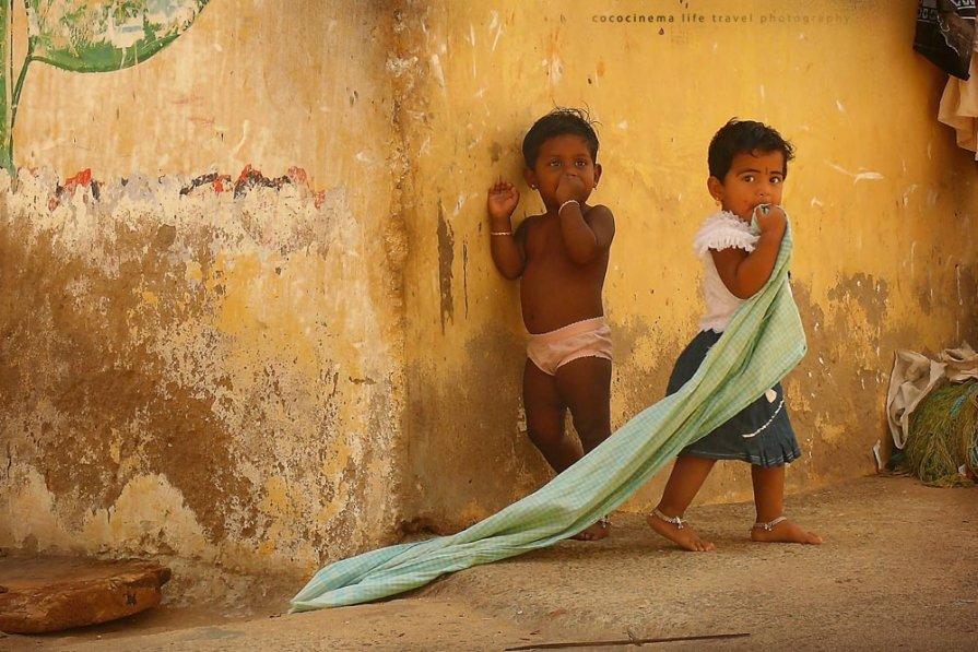 Дети в Каньякумари. - Анастасия Кононенко