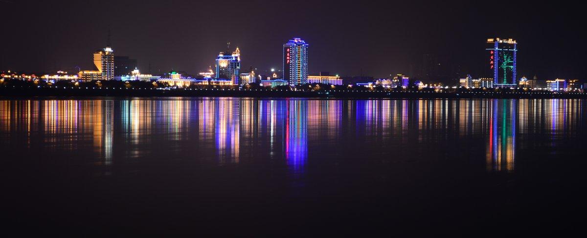 Китай. Вид из Благовещенска через Амур - Kov66