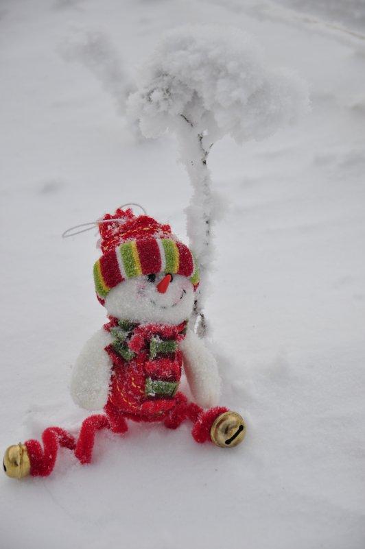 Снеговичок на отдыхе!!! - Марина Демьяненко