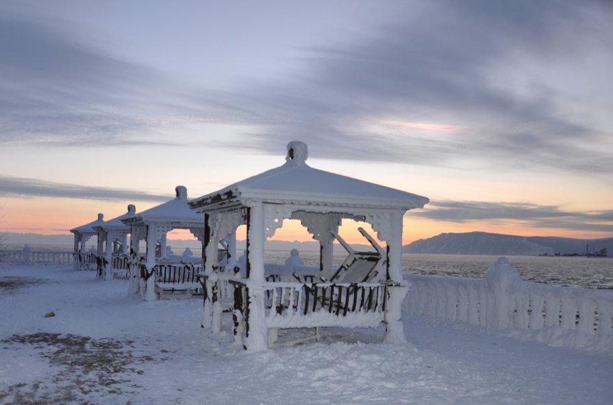 Закат на Байкале.Название - Марина Демьяненко
