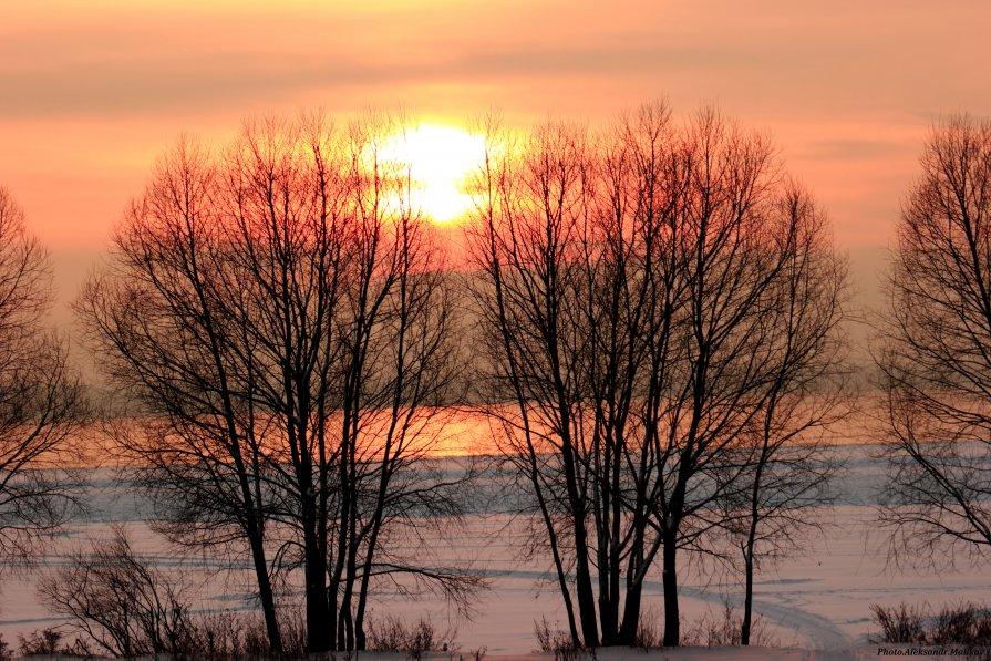 закат на озере Плещеево - Александр Маликов