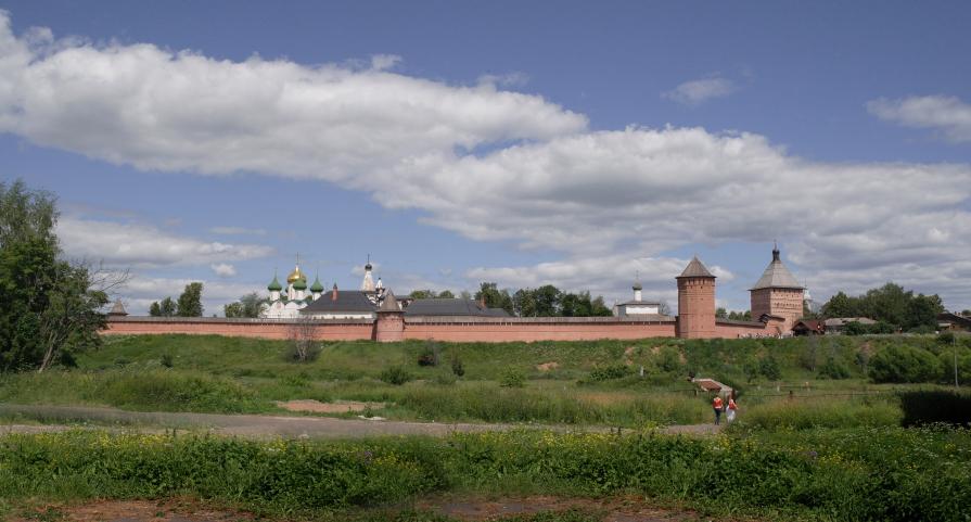 Суздаль (монастырские стены) - Валерий Коноплев