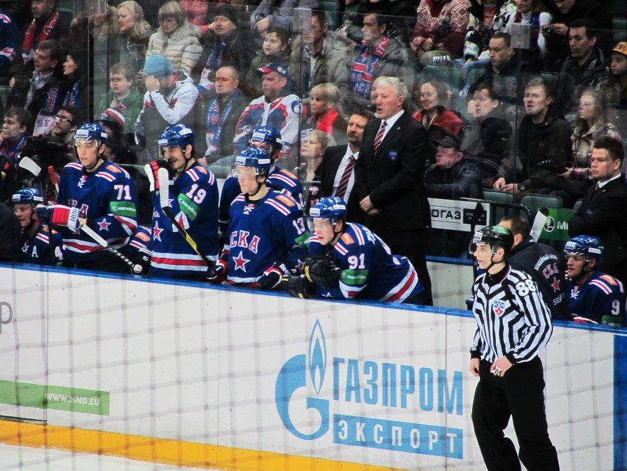 СКА-Локомотив 4:0. Скамейка СКА - Алексей Кудрявцев