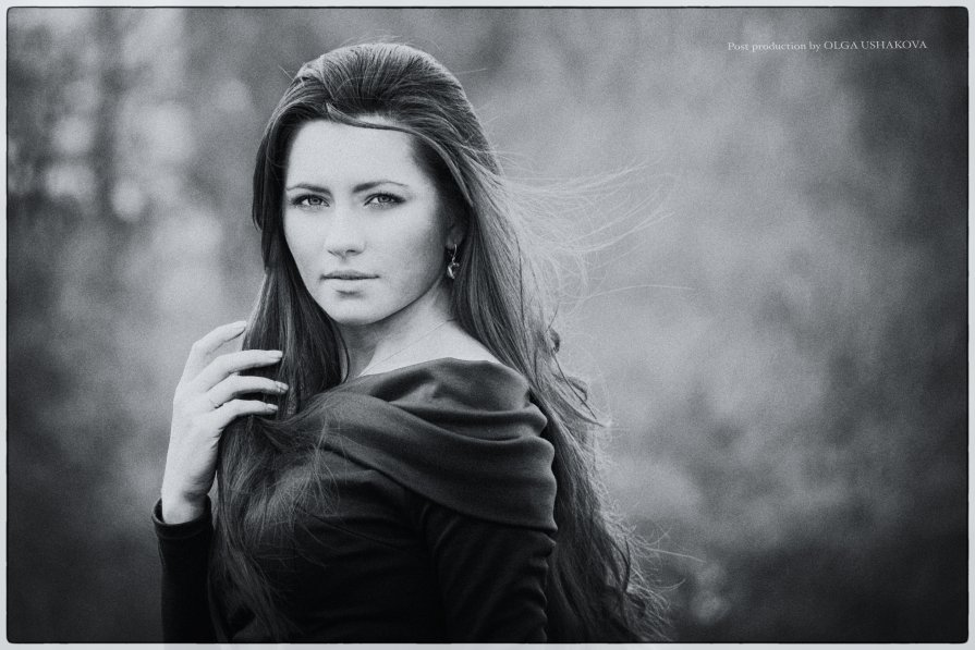 черно-белый портрет - Ольга Ушакова