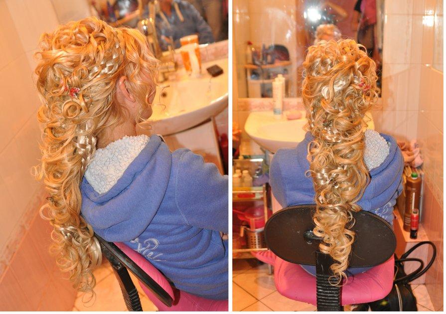 прическа на свадьбу французская коса