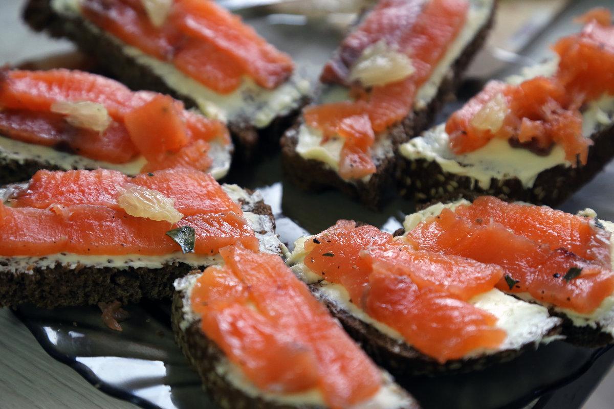 Бутерброды из красной рыбы рецепты с фото