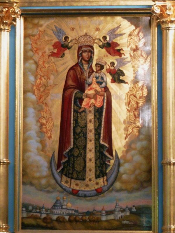 """Икона """"Пресвятая  Богородица с Предвечным Младенцем «Ангелов  Радосте», - Galina Leskova"""