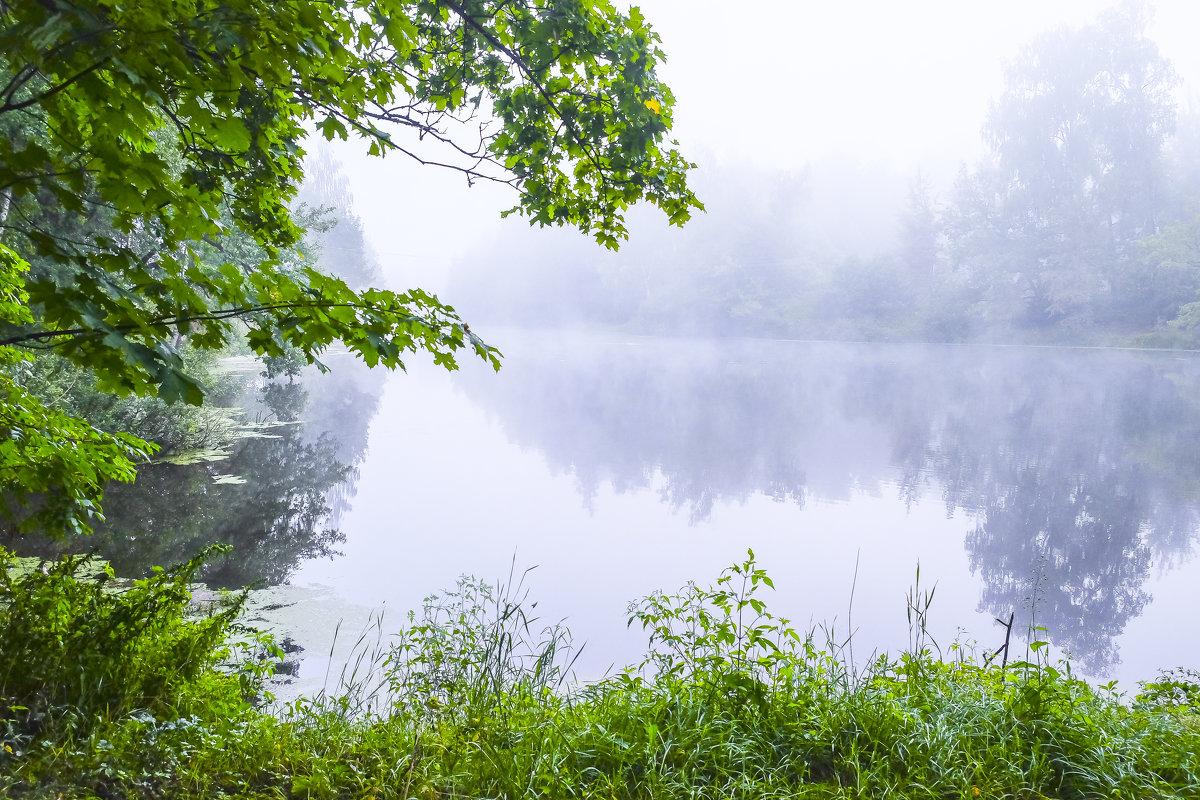 Утро над озером. - яков боков