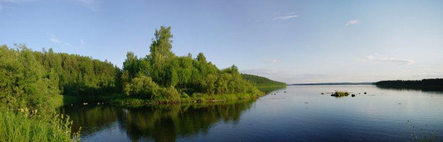 река Зеленда вподает в Ангару - Александр Переплеткин