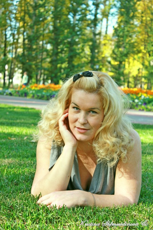 Осенняя блондинка)) - Кристина Шамсутдинова