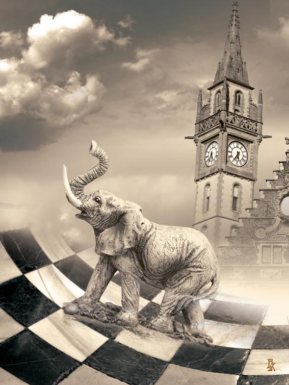 Слон на прогулке. Серия шахматы - Вероника Касаткина