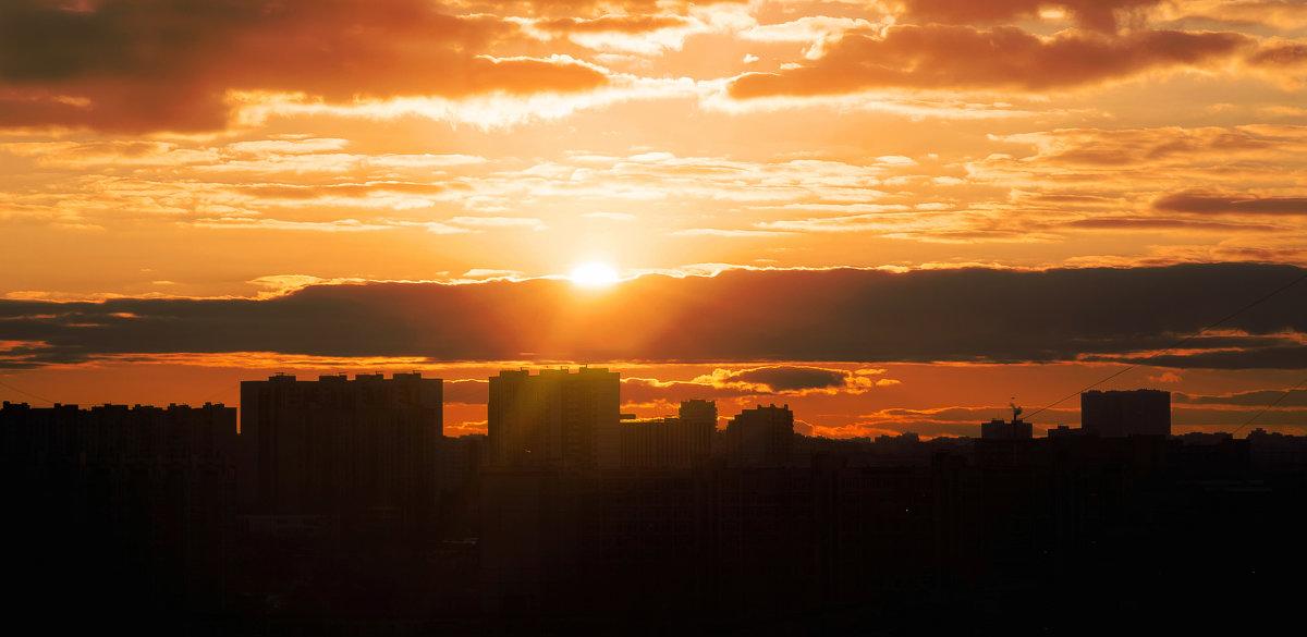 закат над городом /jupiter-9 f11/85mm - Pasha Zhidkov