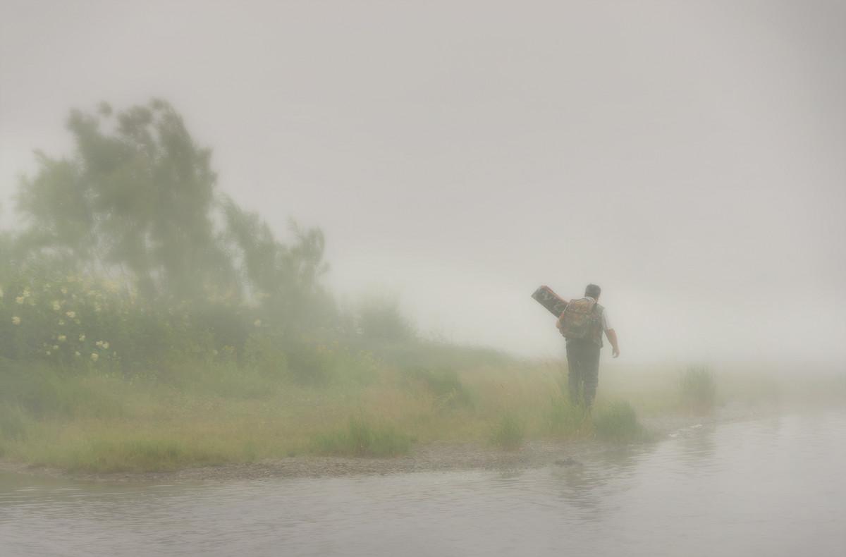 стих рыбак в тумане