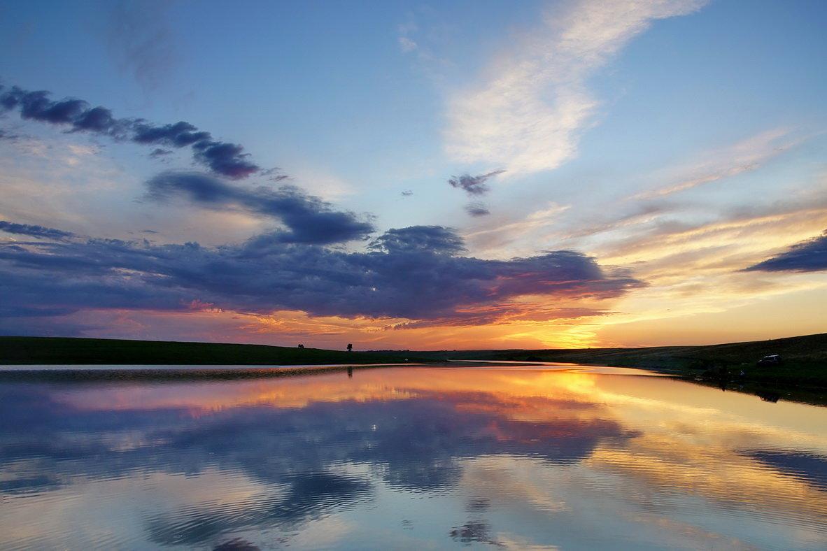 Степное озеро. Закат - Виктор Четошников
