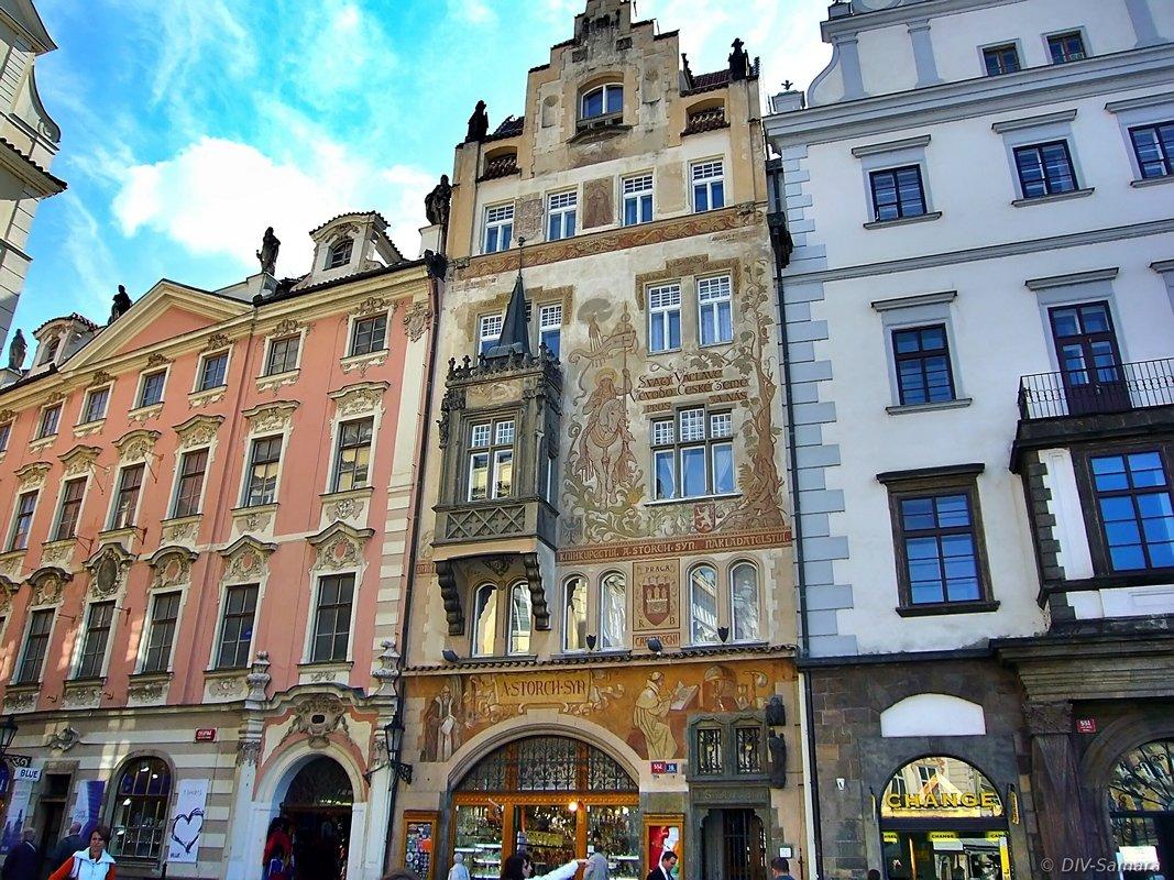 Дом Шторха на Староместской площади в Праге - Денис Кораблёв