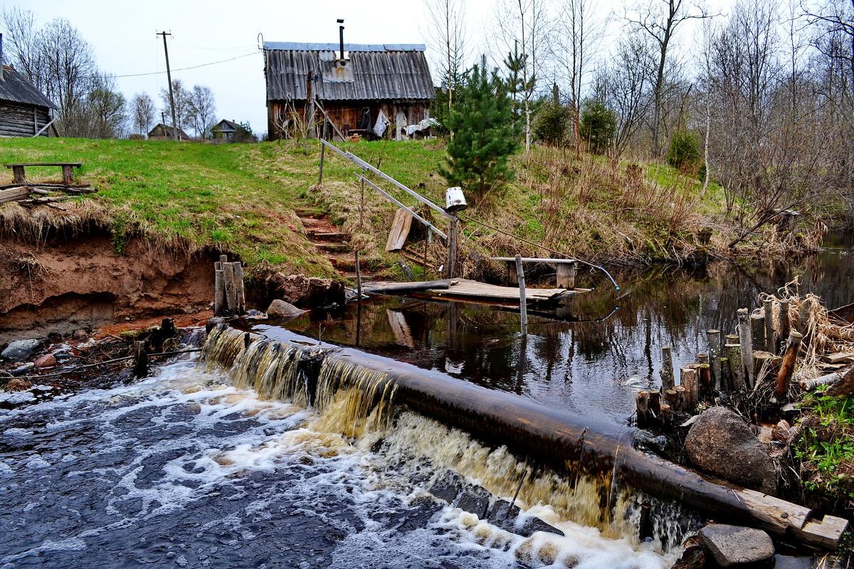 каменная плотина рыбалка