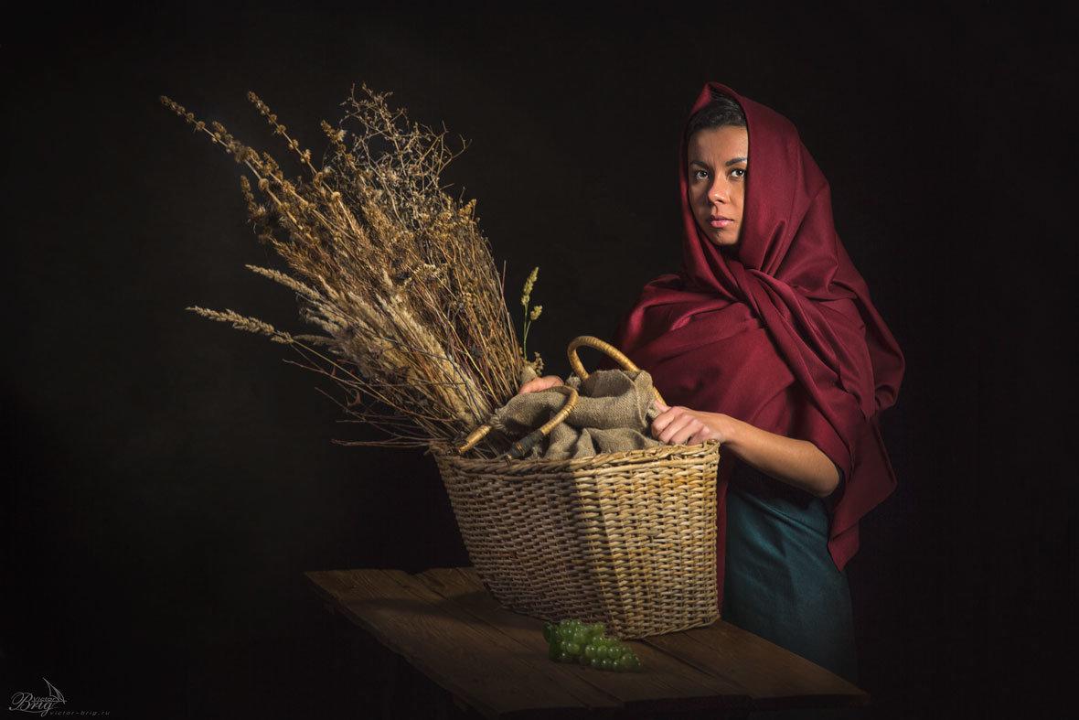 Девушка с корзиной - Victor Brig