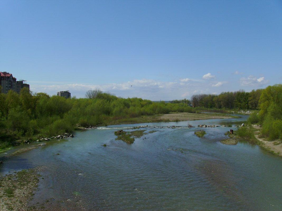 Река  Быстрица  Солотвинская  в  Ивано - Франковске - Андрей  Васильевич Коляскин