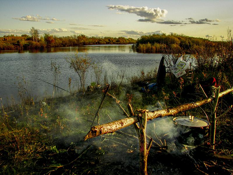 рыбалка река костерка