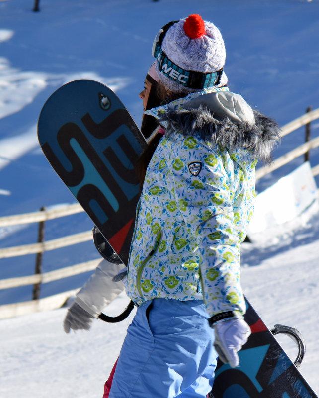 Фото девушки сноубордистки