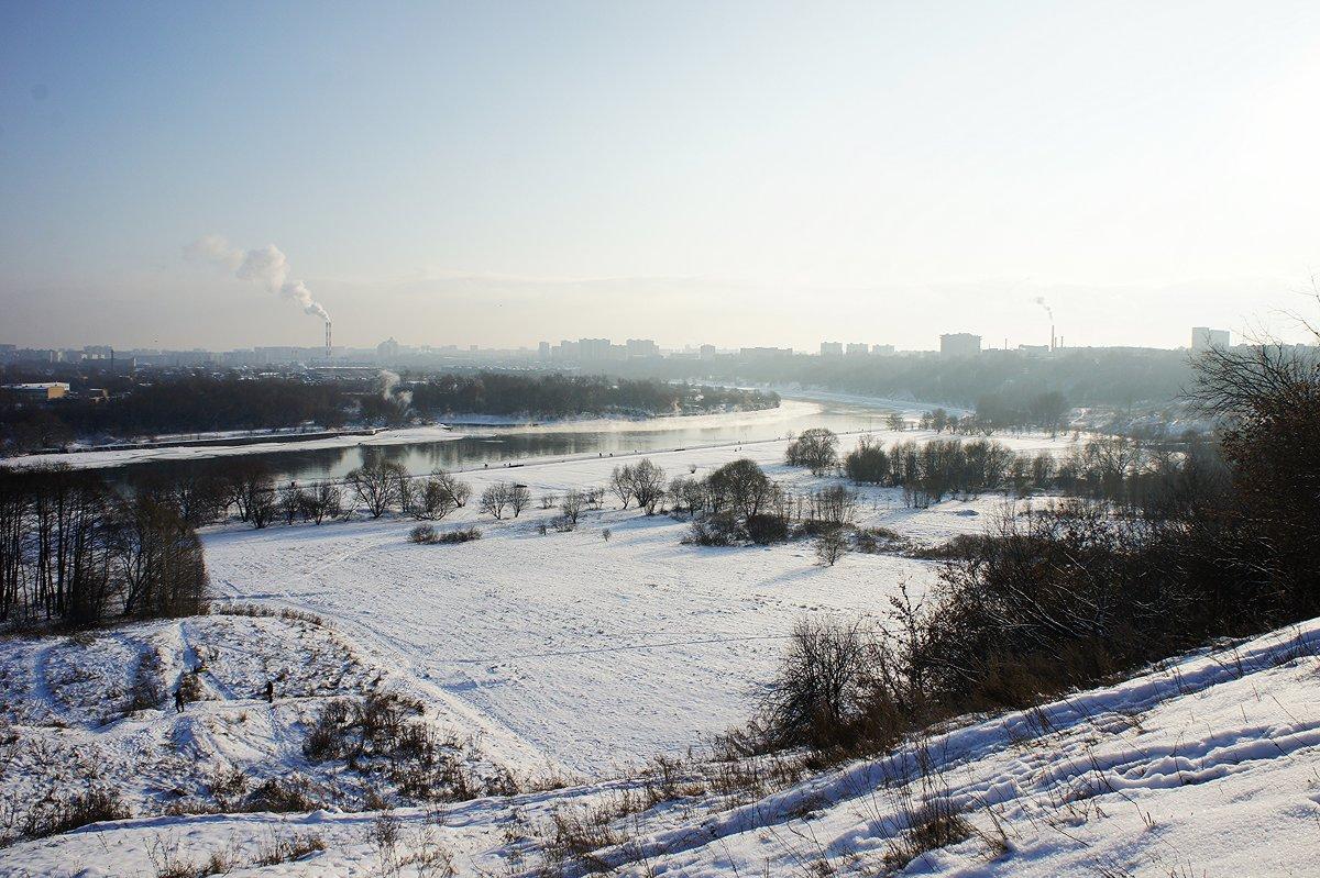Пойма реки Москвы под храмом Иоанна Предтечи - Елена Павлова (Смолова)
