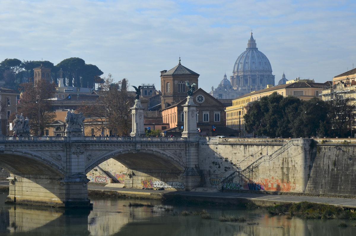 Мост Виктора Эмануила в Риме. - Гектор