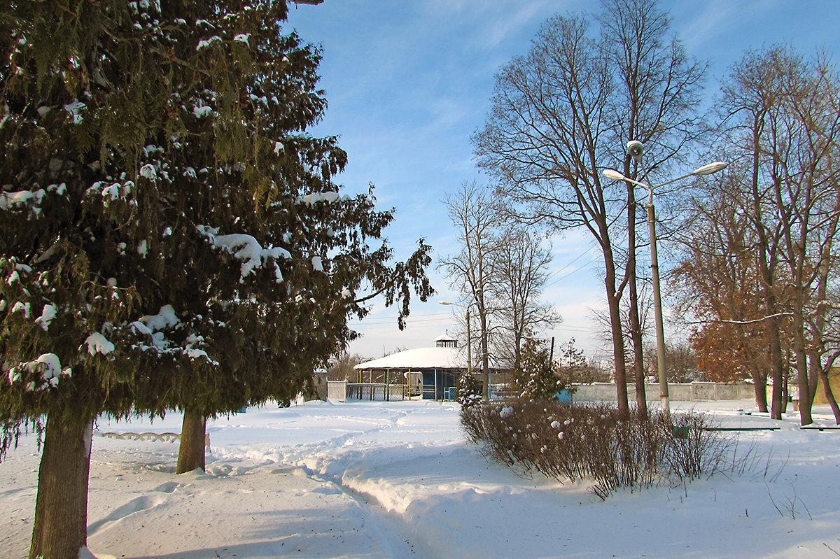 Зимний парк железнодорожников - Canon PowerShot SX510 HS