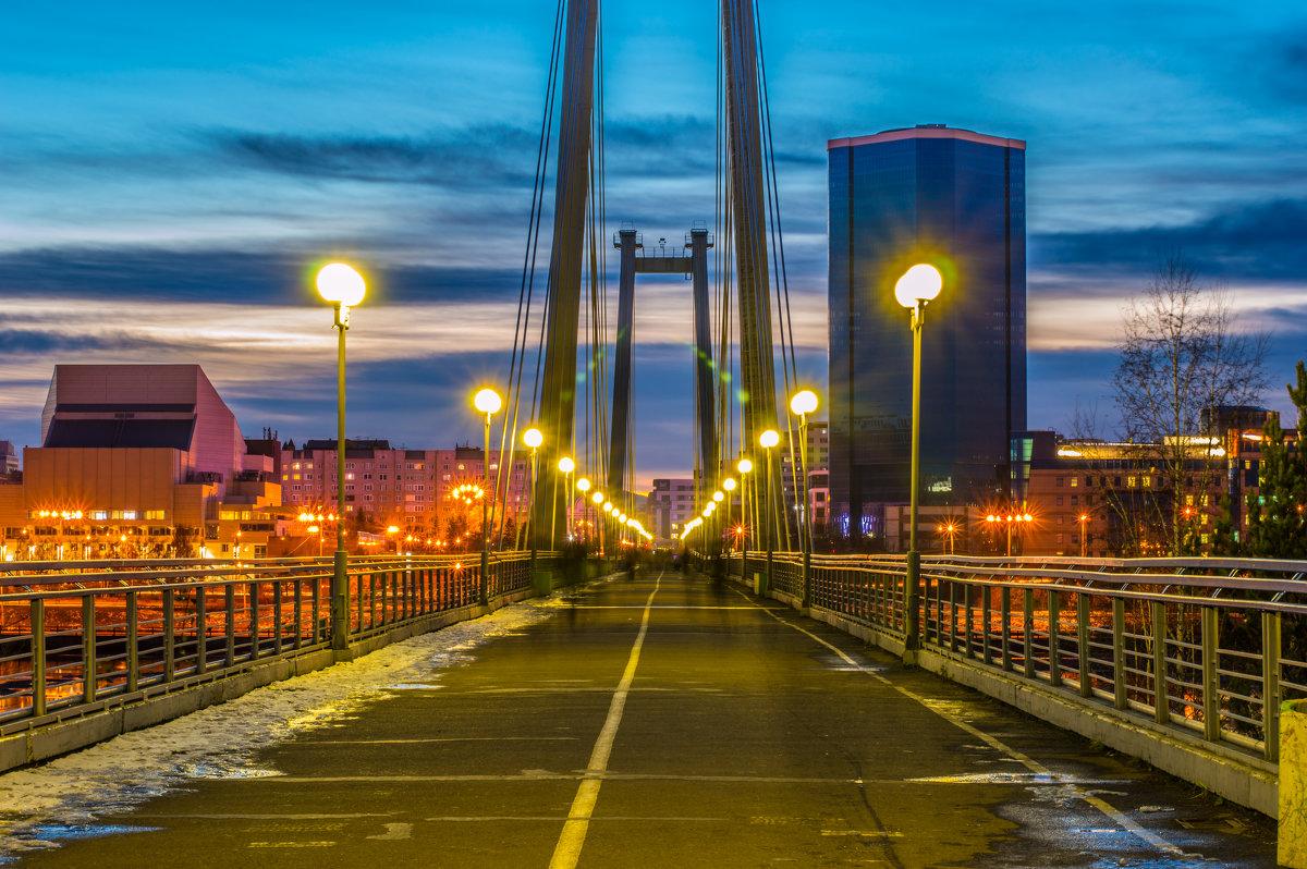 Красноярск. Пешеходный мост - Андрей Поляков