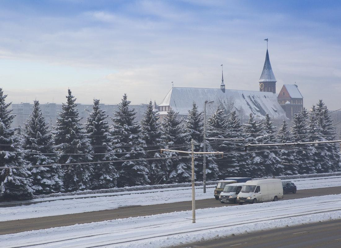 В Калининград пришла зима. - Виталий Латышонок