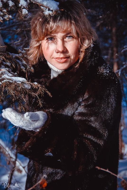 В зимнем лесу. - Эржена Жамбалова