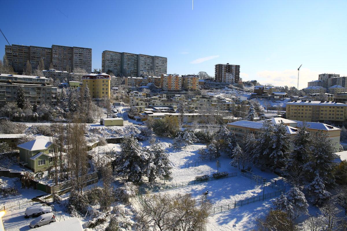Первый снег в Сочи - valeriy khlopunov