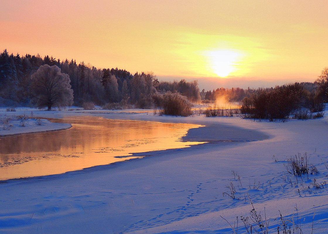 Зимний закат.Тверца - Павлова Татьяна Павлова