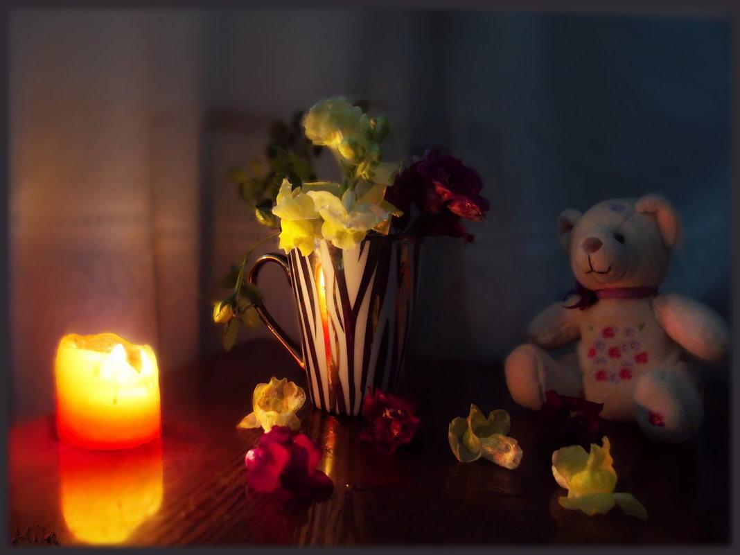 Причудливо коробочки соцветий львиный зев раскрыл навстречу полночи... - Людмила Богданова (Скачко)