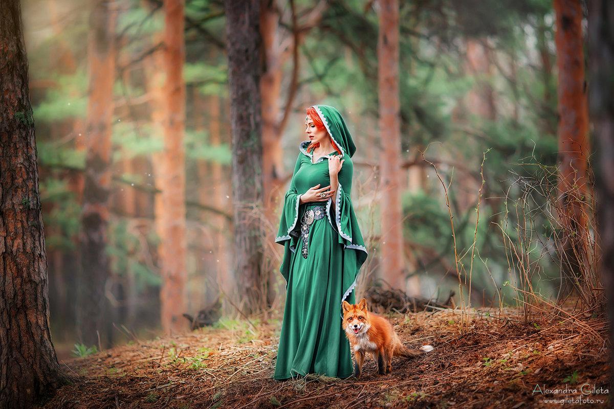 """Сказочная съемка """"Девушка с лисой"""" - Александра Гилета"""