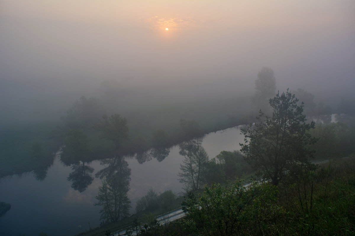 Туманное утро на р.Корень - ALEXANDR L