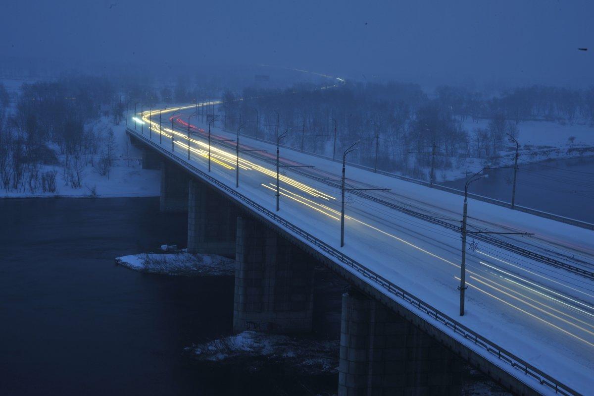 Мост через Енисей. - Владимир