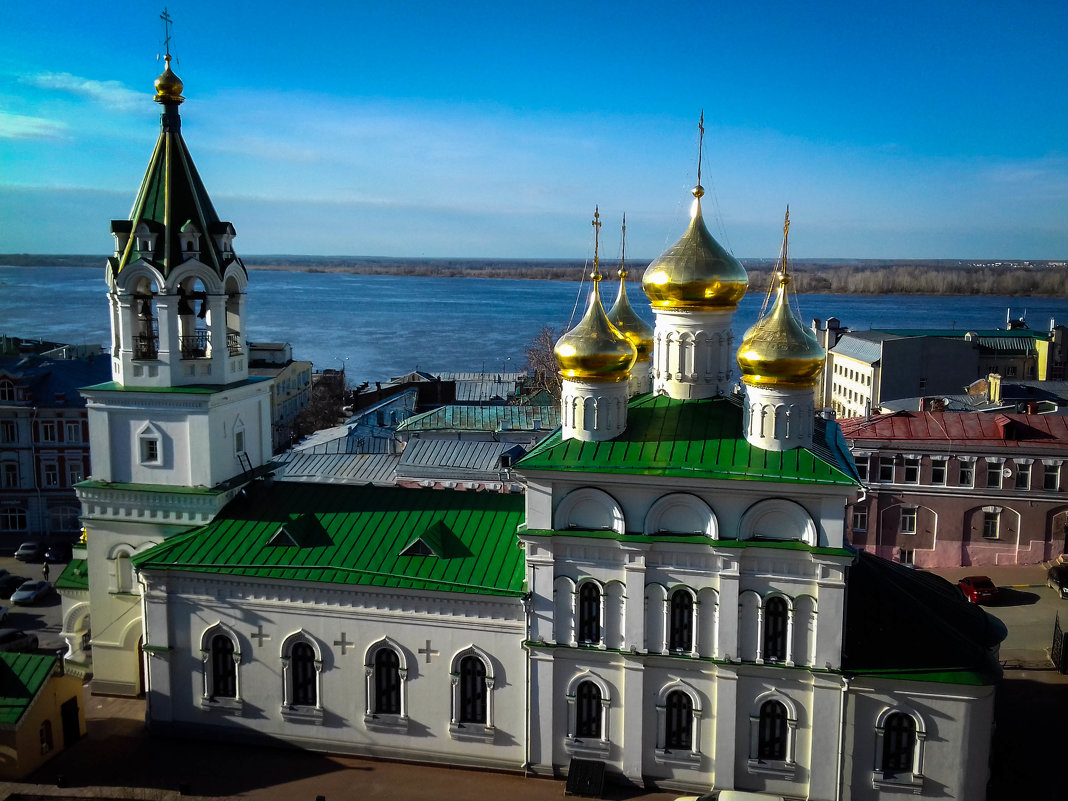 Храм на набережной Волги. - Дмитрий Перов