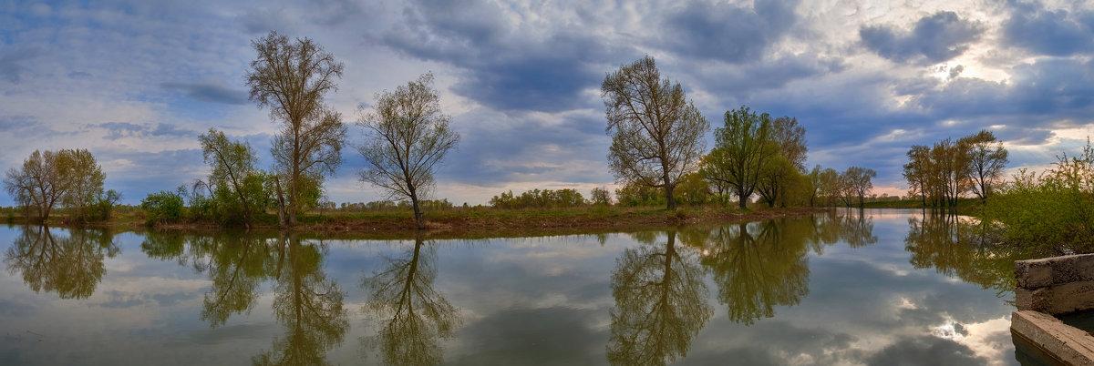 Вечерняя панорама у Иртыша. - Виктор Гришенков
