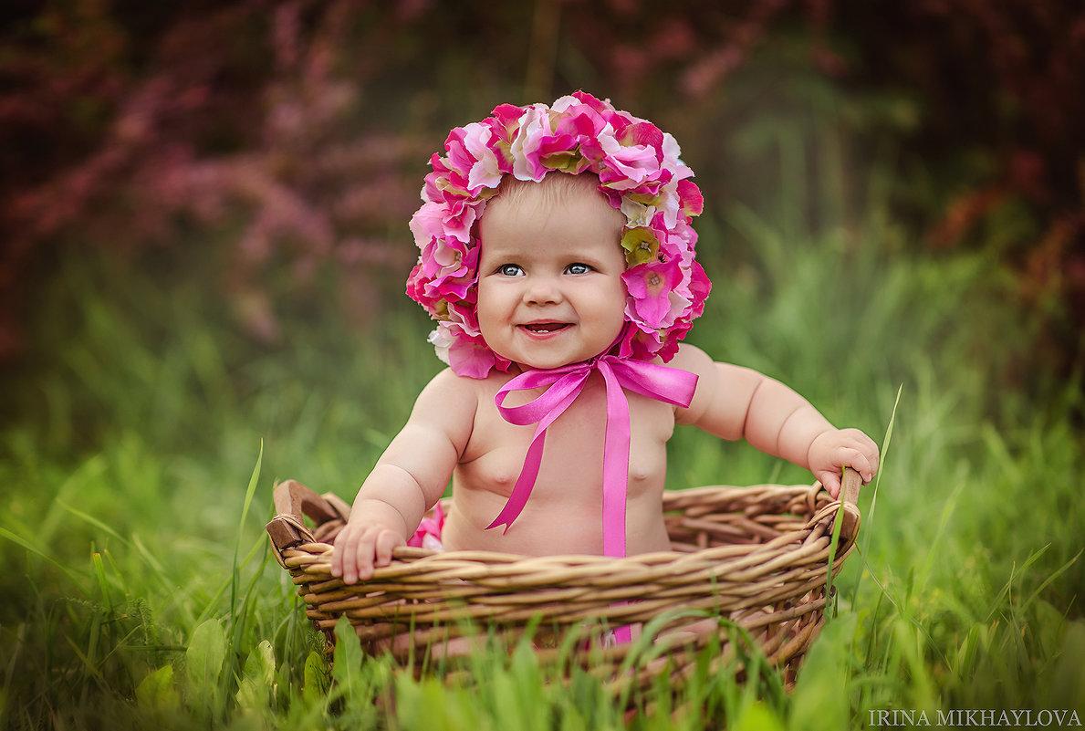 Фото дети и цветы