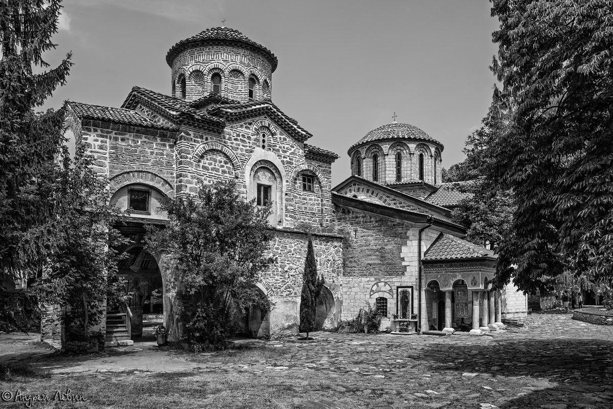 Болгария. Бачковский монастырь черно белое - Андрей Левин